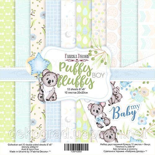 Набор скрапбумаги Puffy Fluffy Boy 20x20 см 10 листов