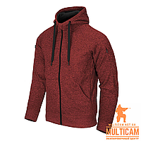 Кофта худі Helikon-Tex® Covert Hoodie (FullZip)® - Red Melange, фото 1