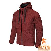 Кофта худі Helikon-Tex® Covert Hoodie (FullZip)® - Red Melange