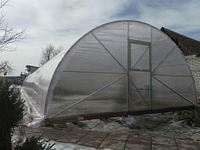 Теплиця Комбі 5х10 UF - плівка 150 мкм + торці полікарбонат 4 мм