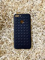 """Чехол """"Кожаное Плетение"""" для Huawei P Smart, Black"""