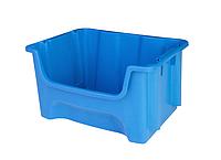 Пластиковий контейнер А-500 (490х400хН300мм) складський модульний лоток обсяг 35.0 л, фото 1