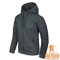 Кофта худі Helikon-Tex® Urban Hoodie (FullZip)® - Black-Grey Melange