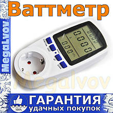 Ваттметр цифровой 220V 3600Wt Intertek электросчётчик, вольтметр, амперметр, измеритель частоты сети