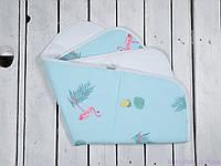 Пеленка в кроватку непромокаемая (размер 60*80 см), Фламинго, фото 1