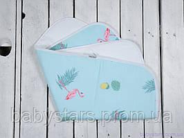 Пеленка в кроватку непромокаемая (размер 60*80 см), Фламинго