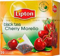 Чай Lipton Cherry Morello (черный фруктовый в пирамидках) 20х1,8 г.