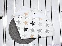 Пеленка махровая непромокаемая (размер 60*80 см), Звезды, фото 1