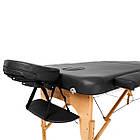 Массажный стол деревянный 2-х сегментный RelaxLine Bali кушетка массажная для массажа, фото 6
