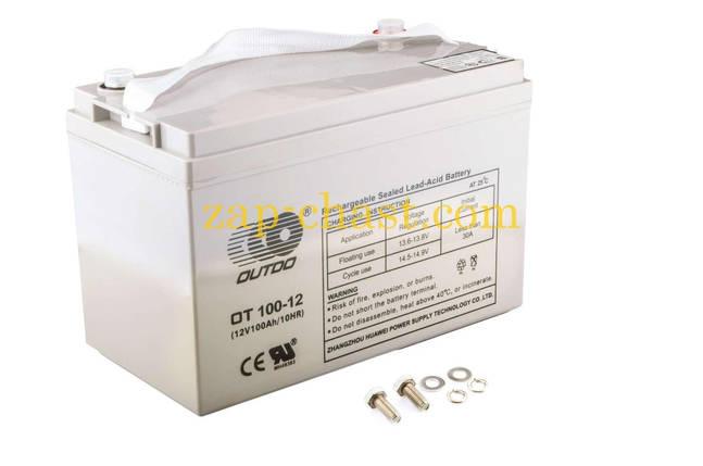 АКБ   12V 100А   AGM   (330x172x223, серый)   OUTDO, фото 2