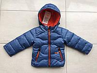 Детская весенняя курточка - ветровка на мальчика ярка, модная новинка р- 1, 2, 3, 4 годика. Не дорого. синяя