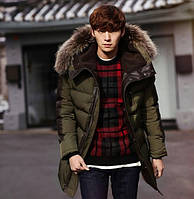 Мужская куртка пуховик, разные цвета  МК-225-О, фото 1
