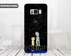 Силиконовый чехол для Samsung A805 Galaxy A80 Рик и Морти (Rick and Morty) (13024-3414), фото 2