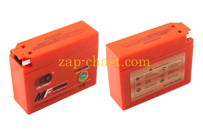 АКБ   12V 2,3А   гелевый, Suzuki   (113x39x89, оранжевый, mod:YT4B-5)   OUTDO, фото 2