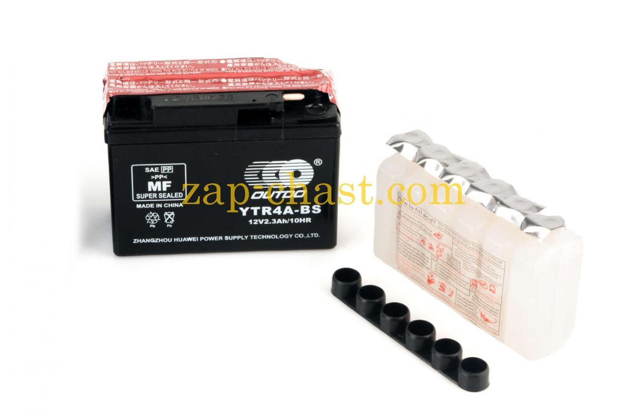АКБ   12V 2,3А   заливной , Suzuki   (114x39x87, черный, mod:GT  4B-5)   (+электролит)   OUTDO