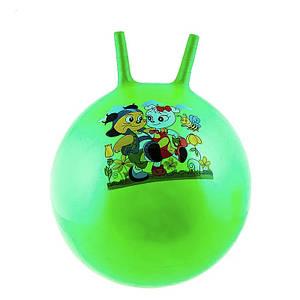 Мяч прыгун детский с рожками 55см 5415-8