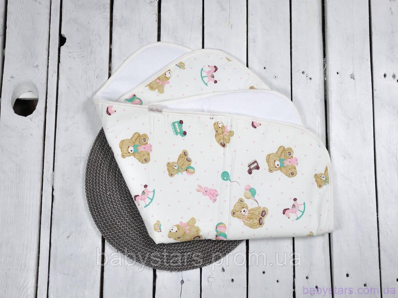 Непромокаемые пеленки для новорожденного (размер 60*80 см), Розовые мишки