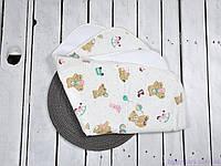Непромокаемые пеленки для новорожденного (размер 60*80 см), Розовые мишки, фото 1
