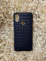 """Чехол """"Кожаное Плетение"""" для Xiaomi Mi A2, Black"""