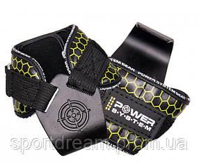 Крюки для тяги на запястья Power System Hooks V2 PS-3360 Black/Yellow XL