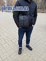 Мужская кожаная черная сумка Puma Ferrari через плечо 24 * 27 см