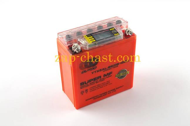 АКБ   12V 5А   гелевый   (высокий)   (119x60x128, оранжевый, с индикатором заряда, вольтметром)   OUTDO, фото 2
