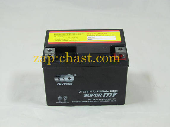 АКБ   12V 5А   гелевый   (черный)   MF (UTZ5S, 115x86x70)   DELTA 110/125   (Japan Tech)   ZV, фото 2