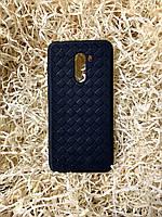 """Чехол """"Кожаное Плетение"""" для Xiaomi Pocophone F1, Black"""