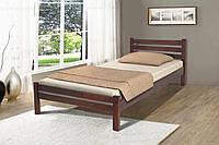 Кровать односпальная деревянная Эко 90-200 см (темный орех)