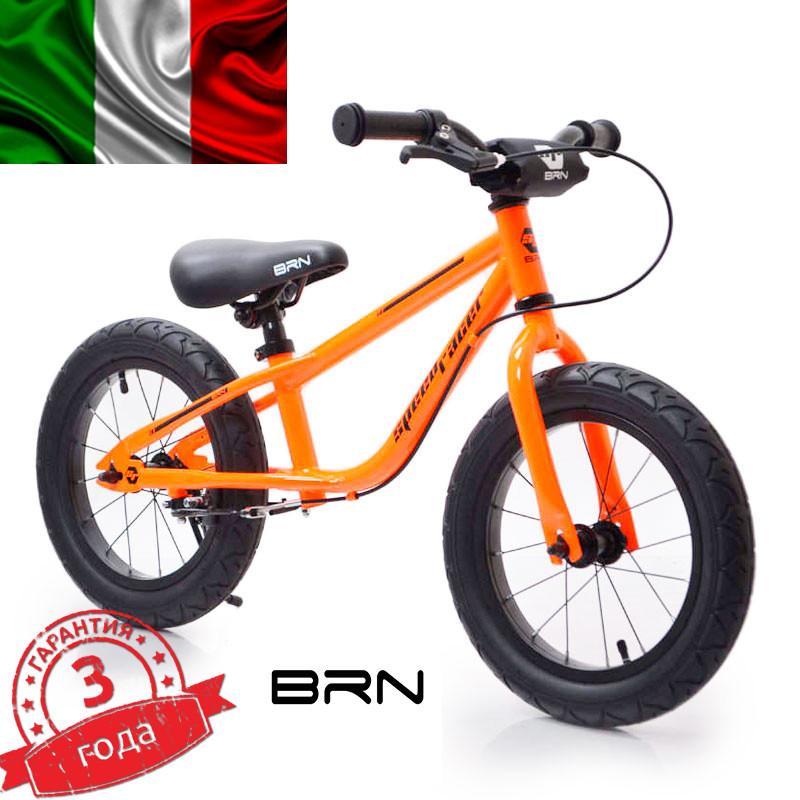 """Італійський Беговел 14""""(BRN)B-2 Orange Air wheels"""