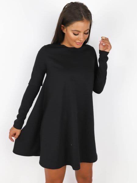 Стильне жіноче плаття з довгим рукавом