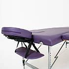 Массажный стол алюминиевый 2-х сегментный RelaxLine Florence кушетка массажная для массажа, фото 4