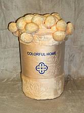 Плед Colorful Home з помпонами світлий персик 200х220см.