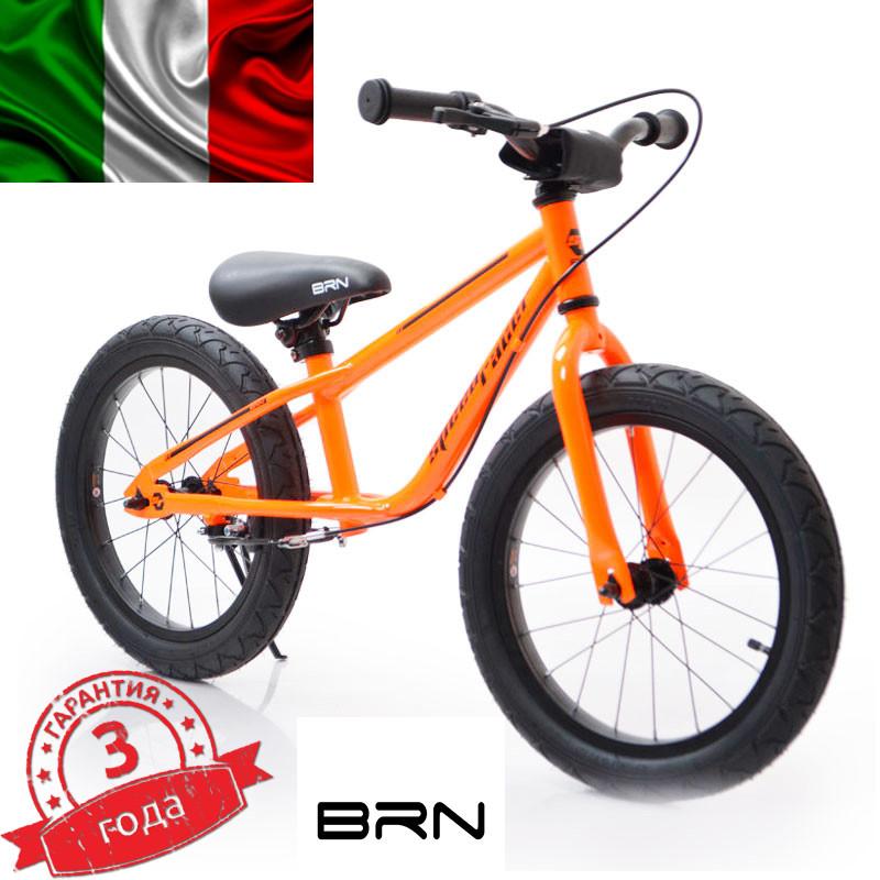 Итальянский Беговел 16 (BRN)B-2 Orange Air wheels