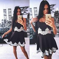 Вечернее платье с кружевом Agata d-3103613