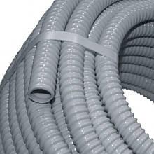 Труба арминованная D 8мм Elettrocanali ECGFE08 серая (гибкая спиральная ПВХ)