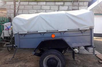 Тент на легковой прицеп Степок ЗАЗ-8101 1.61 х 1.17 ПВХ Еврофура