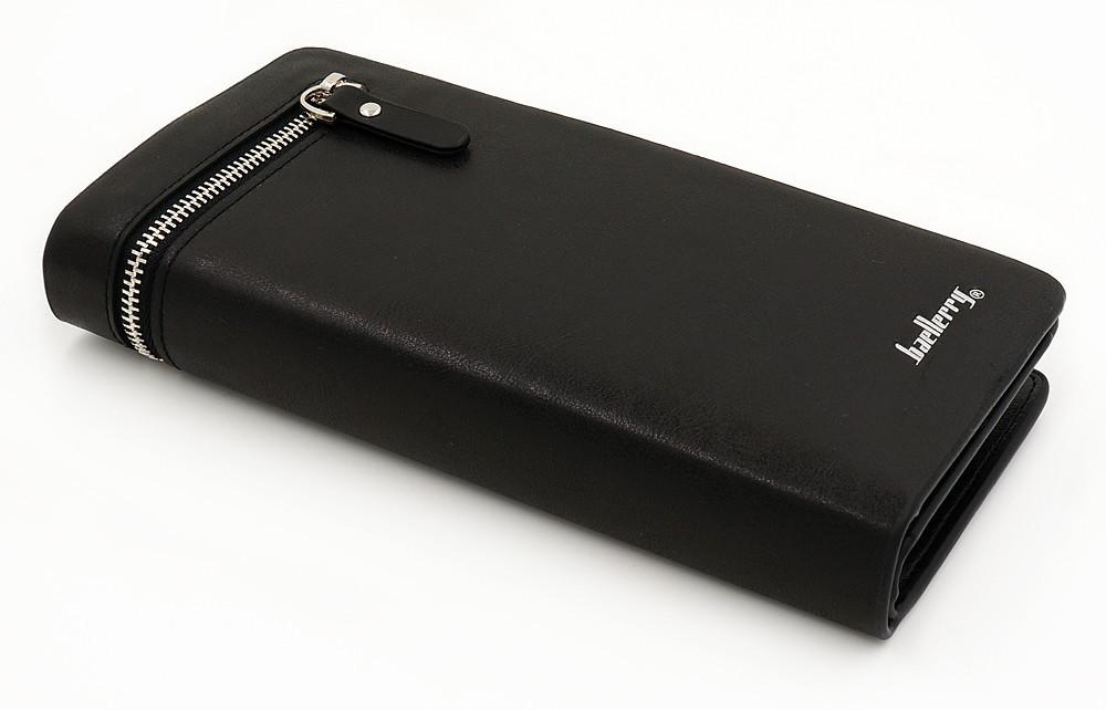 Портмоне мужской клатч кошелек Baellerry Italia Черный