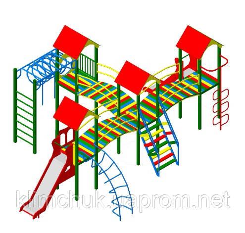 """Ігровий комплекс """"Бастіон"""" чотири башти для дитячих ігрових майданчиків KidSport"""