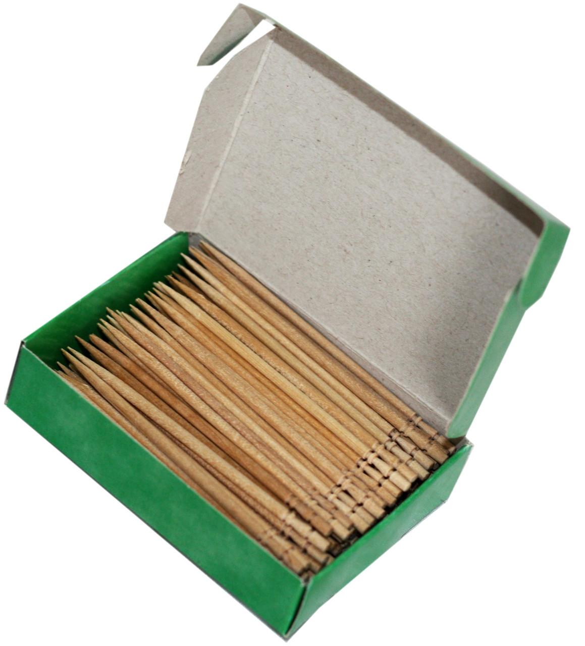 Зубочистки БЕРЁЗОВЫЕ 150шт в картонной упаковке
