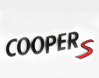 Эмблема надпись багажника Mini CopperS чёрная