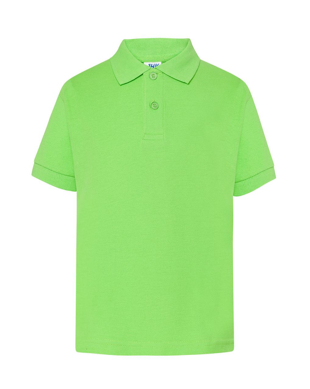Детская футболка-поло JHK KID POLO цвет салатовый (LM)