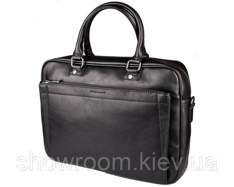 Мужская сумка для ноутбука на плечо David Jones (603) черная