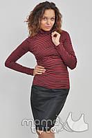 Гольф Фэшн красная полоска для беременных и кормящих мам