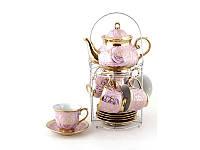 """Подарочный чайный набор """"Розовые пионы"""" 14 предметов"""
