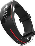 Умный фитнес браслет Lemfo P3 Plus с ЭКГ и тонометром (Красный), фото 2