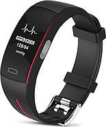 Умный фитнес браслет Lemfo P3 Plus с ЭКГ и тонометром (Красный), фото 3