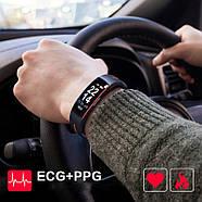 Умный фитнес браслет Lemfo P3 Plus с ЭКГ и тонометром (Красный), фото 5