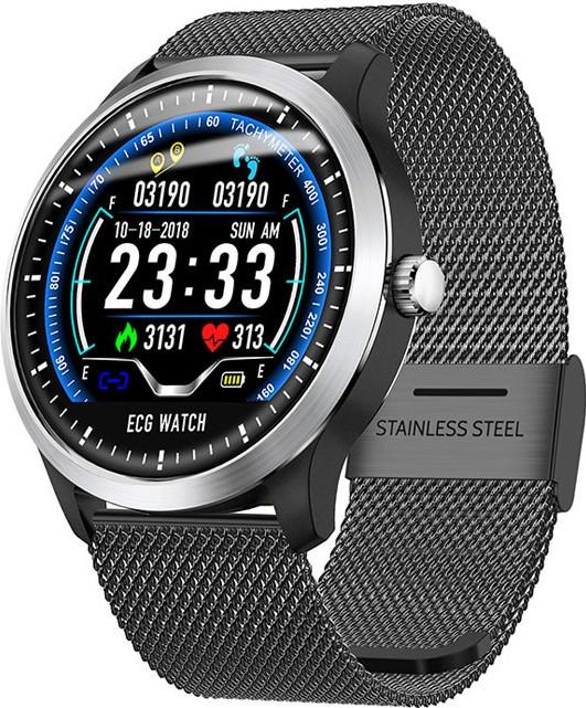 Умные часы Lemfo N58 Metal с измерением давления и ЭКГ (Черный)