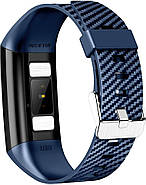 Умный фитнес браслет NO.1 DT58 с ЭКГ и тонометром (Синий), фото 4